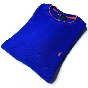 Polo Ralph Lauren Long Sleeve Waffle Knit Shirt L